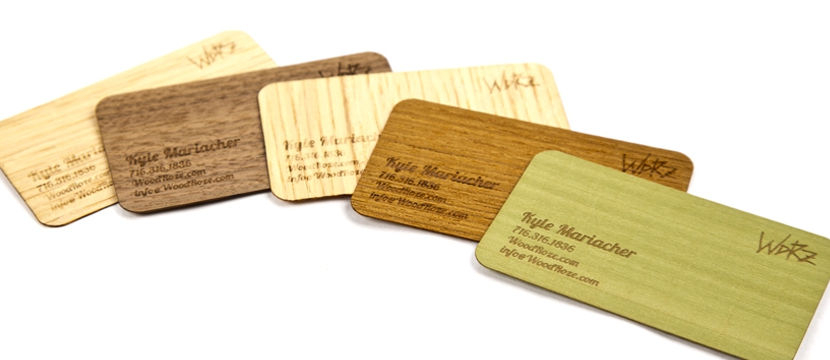 Laser Cut Wooden Business Cards